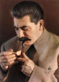 Сталин курит трубку